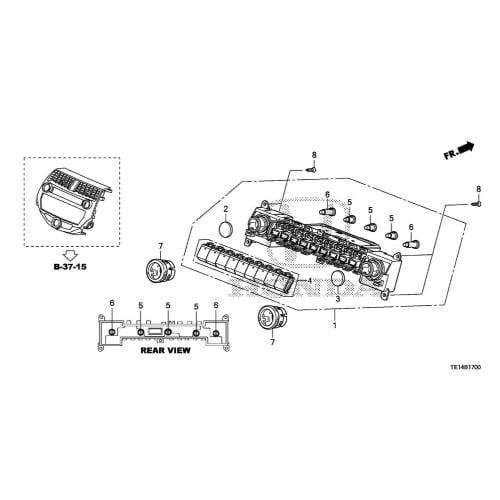 Honda 79505-SNA-A01 Heater Control Bulb A Honda Accord