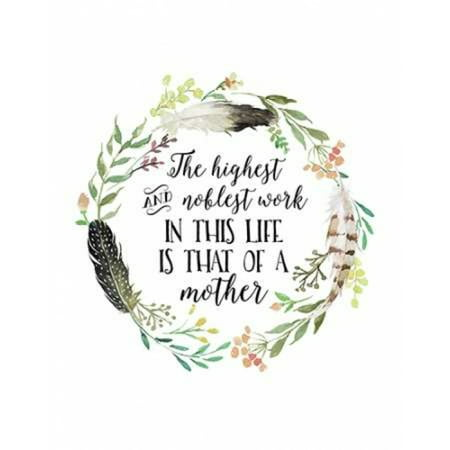 Mother Quote Wreath Poster Print By  Tara Moss
