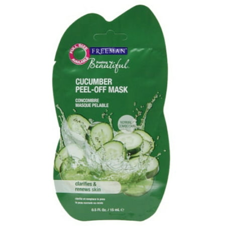 Freeman Feeling Beautiful Face Mask Renewing Cucumber Peel-Off Gel 0.5 fl (Freeman Facial Mask)