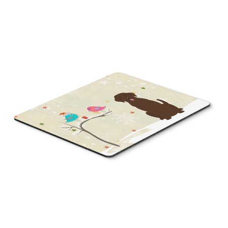 Carolines Treasures BB2528MP Christmas Presents Between Friends Chocolate Labrador Mouse Pad, Hot Pad or Trivet ()