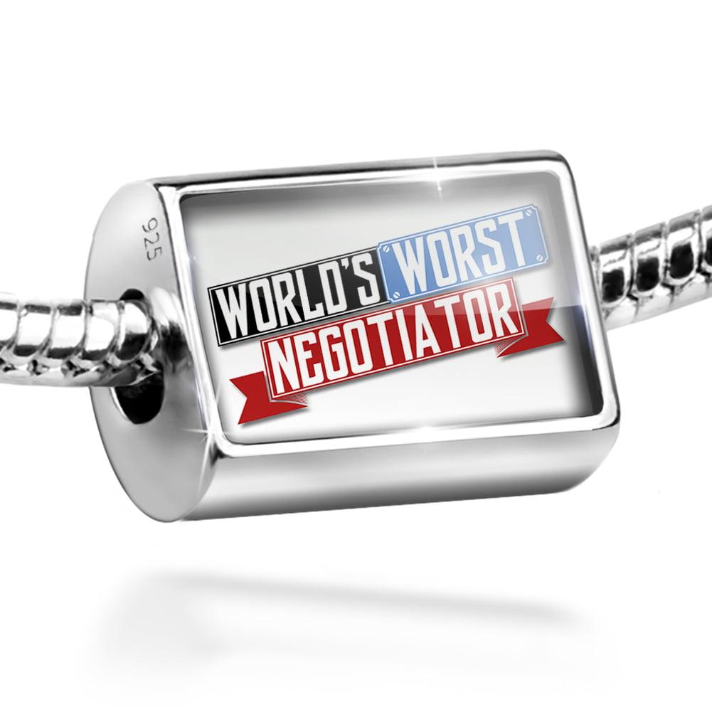 Bead Funny Worlds worst Negotiator Charm Fits All European Bracelets
