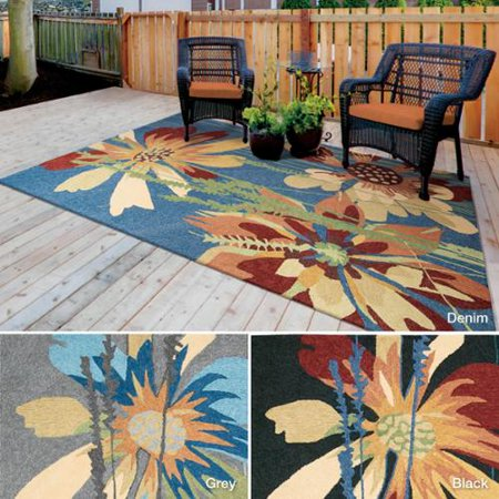 Nourison Melbourne Floral Indoor Outdoor Area Rug 5 X 7