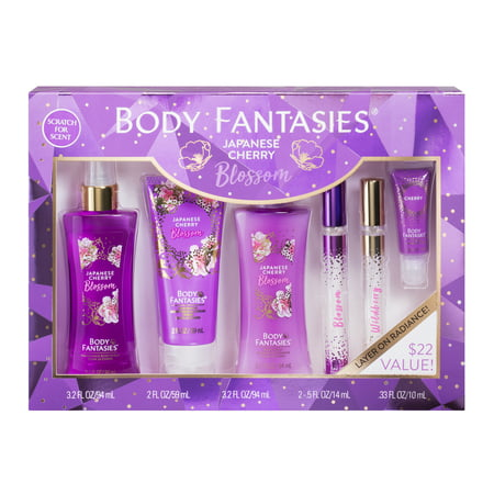 - Body Fantasies Signature Japanese Cherry Blossom Fragrance Gift Set, 6 pieces