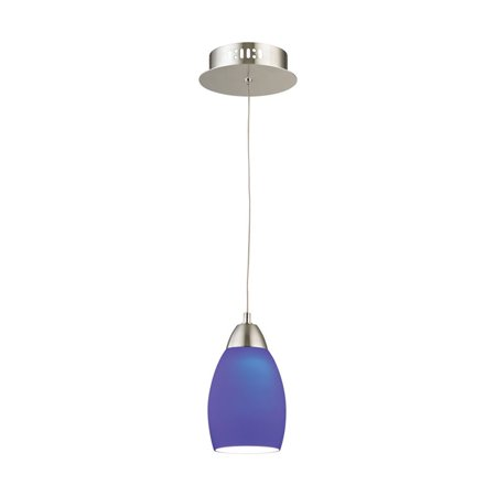 Alico Buro LED Pendant in Satin Nickel with Blue Glass - image 1 of 1