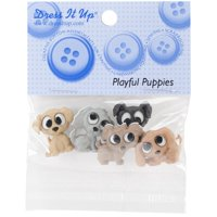 Dress It Up Playful Puppies Embellishments
