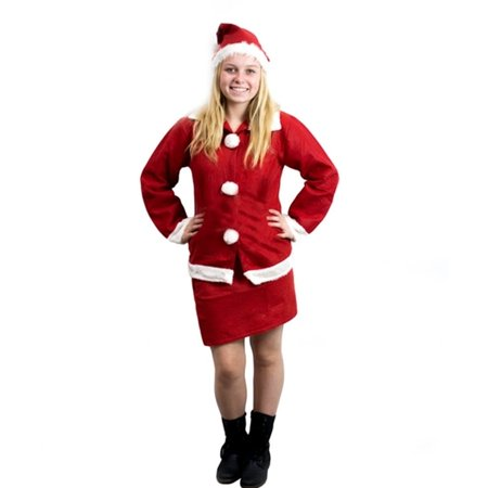 Imperial Home Mrs Santa Claus Christmas Costume Outfit Set with Skirt, Long Sleeve Shirt & Hat