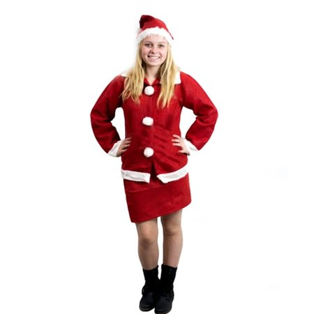 Imperial Home Mrs Santa Claus Christmas Costume Outfit Set with Skirt, Long Sleeve Shirt & Hat](Mrs Incredible Outfit)