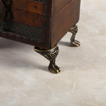 Greensen 4Pcs Antique Brass Jewelry Gift Box Wood Case Decorative Feet Legs Corner Protector Vintage, Brass Corner Protector, Wood Box Brass Corner Protector - image 1 de 9