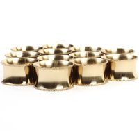 Koyal Wholesale 12-Pack Beaded Metal Napkin Rings, Gold for Weddding Reception, Christmas, Thanksgiving