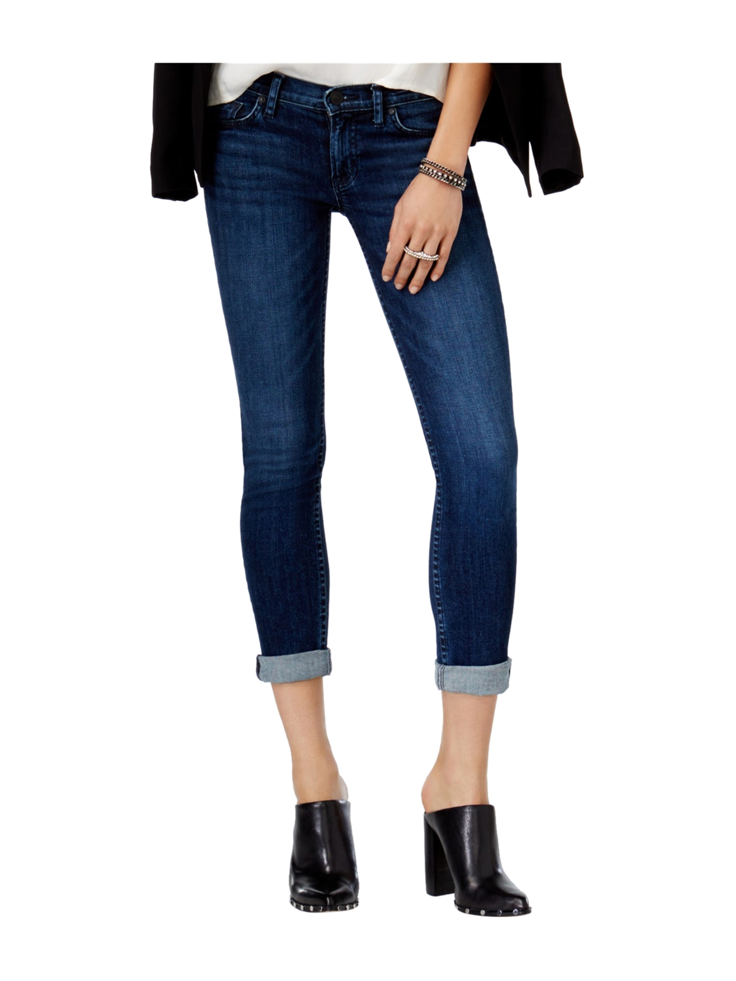 Hudson Womens Tally Skinny Fit Cropped Jeans