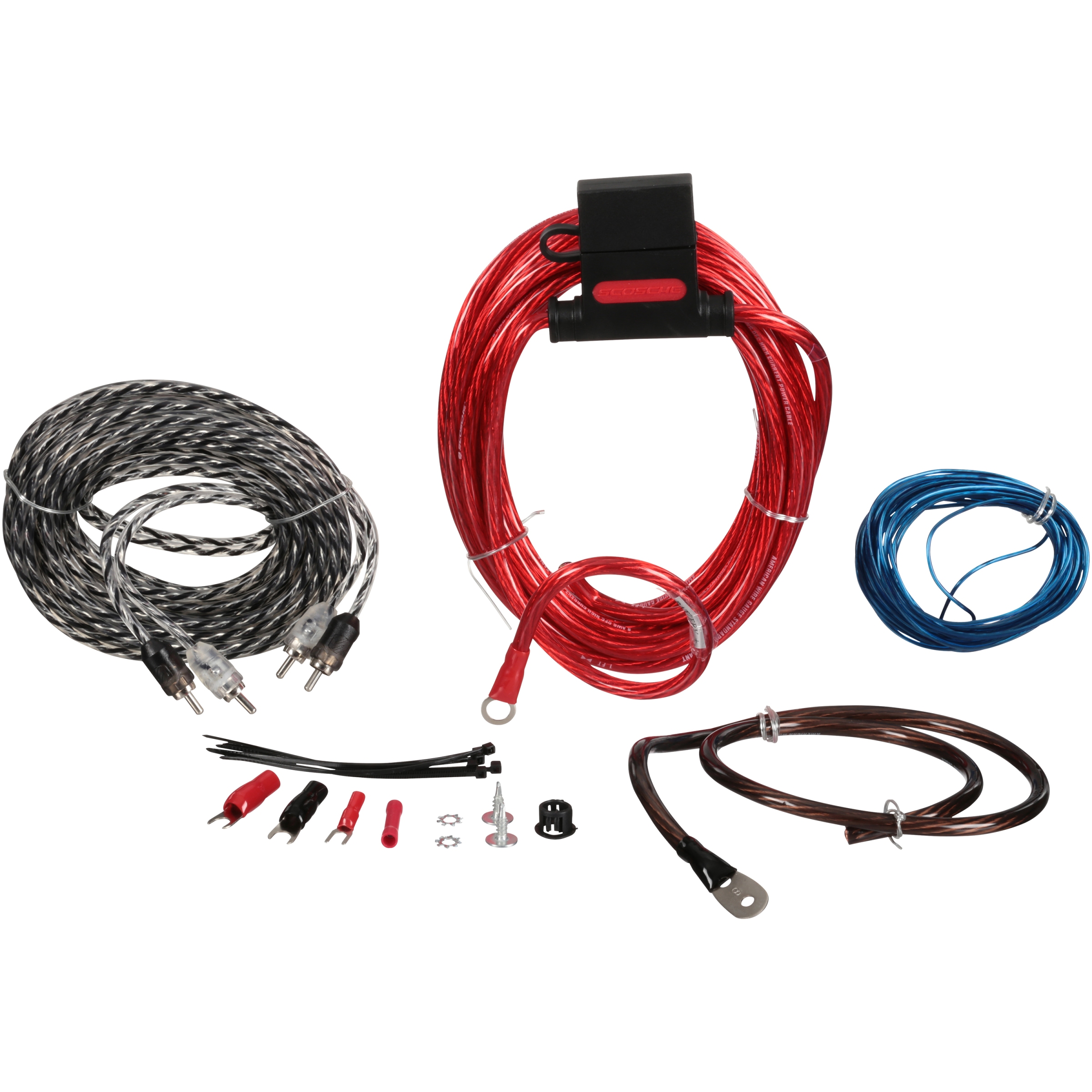 Scosche Wiring Harness Problems Diagram And Ebooks Radio 680 Watt Max 400 Amp Kit 8 Pc Carded Pack Walmart Com Rh Diagrams For Ford