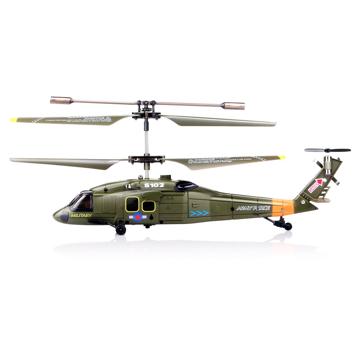 Syma S102G 3-Channel RC Helicopter (Black Hawk UH-60) - Walmart com