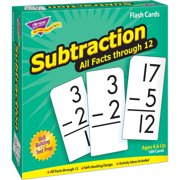 Trend, TEP53202, Subtraction all facts through 12 Flash Cards, 169 / Box
