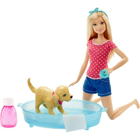 Barbie Splish Splash Pup Play Set