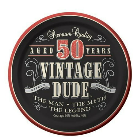50th Birthday Vintage Dude Aged 50 Years Birthday ~ Edible Image Cake/cupcake (Birthday Cake For 25 Year Old Boy)