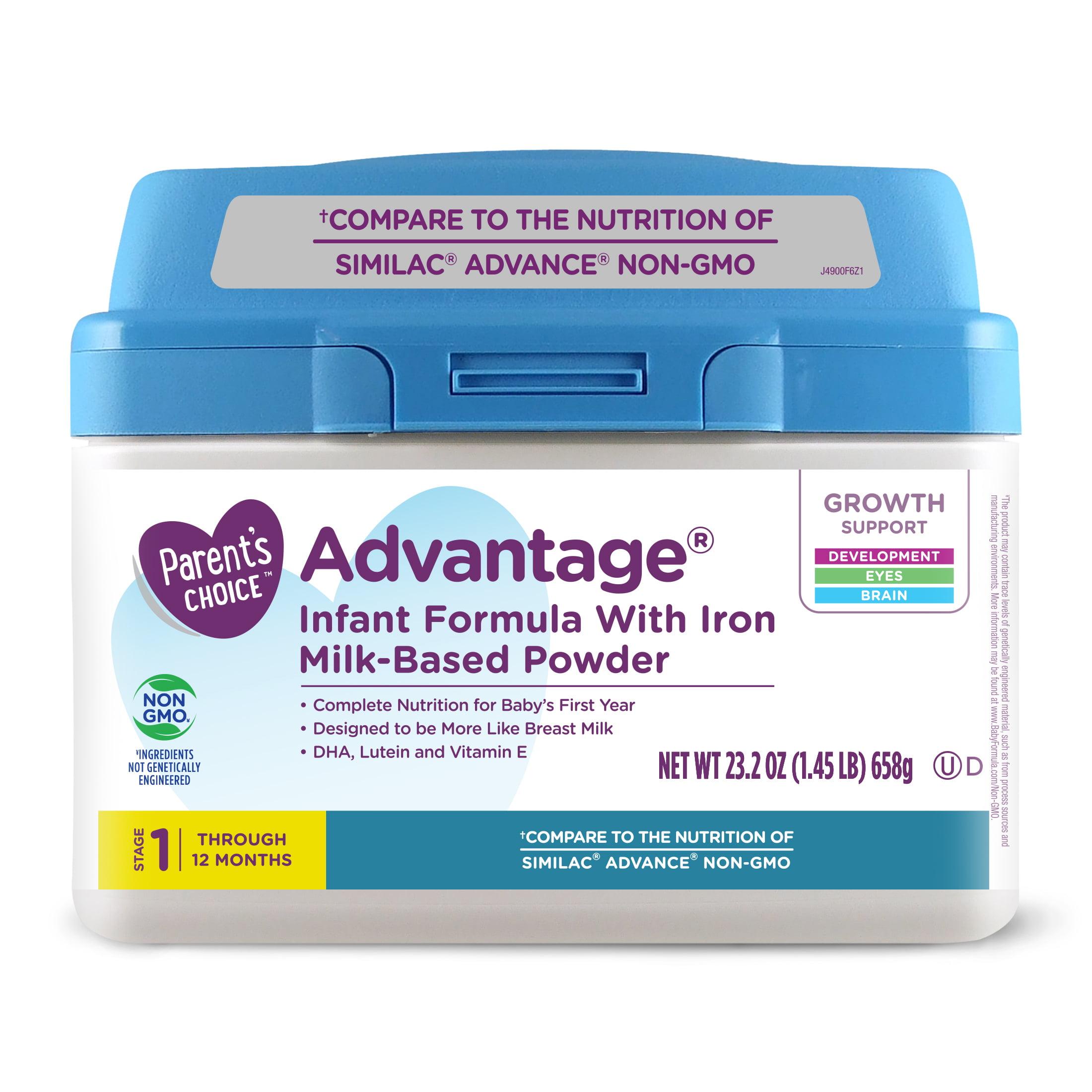 Parent's Choice Advantage Non-GMO Infant Formula with Iron, 23.2 oz