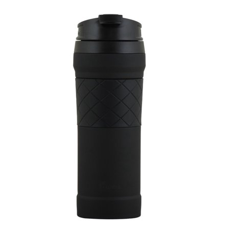 Bubba 16 Ounce Black Hero Elite Stainless Steel Travel Mug with Tasteguard 16 Ounce Steel Mug