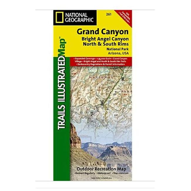 National Geographic Maps TI00000261 Grand Canyon- Bright Angel Canyon/North and South Rims - image 1 of 1