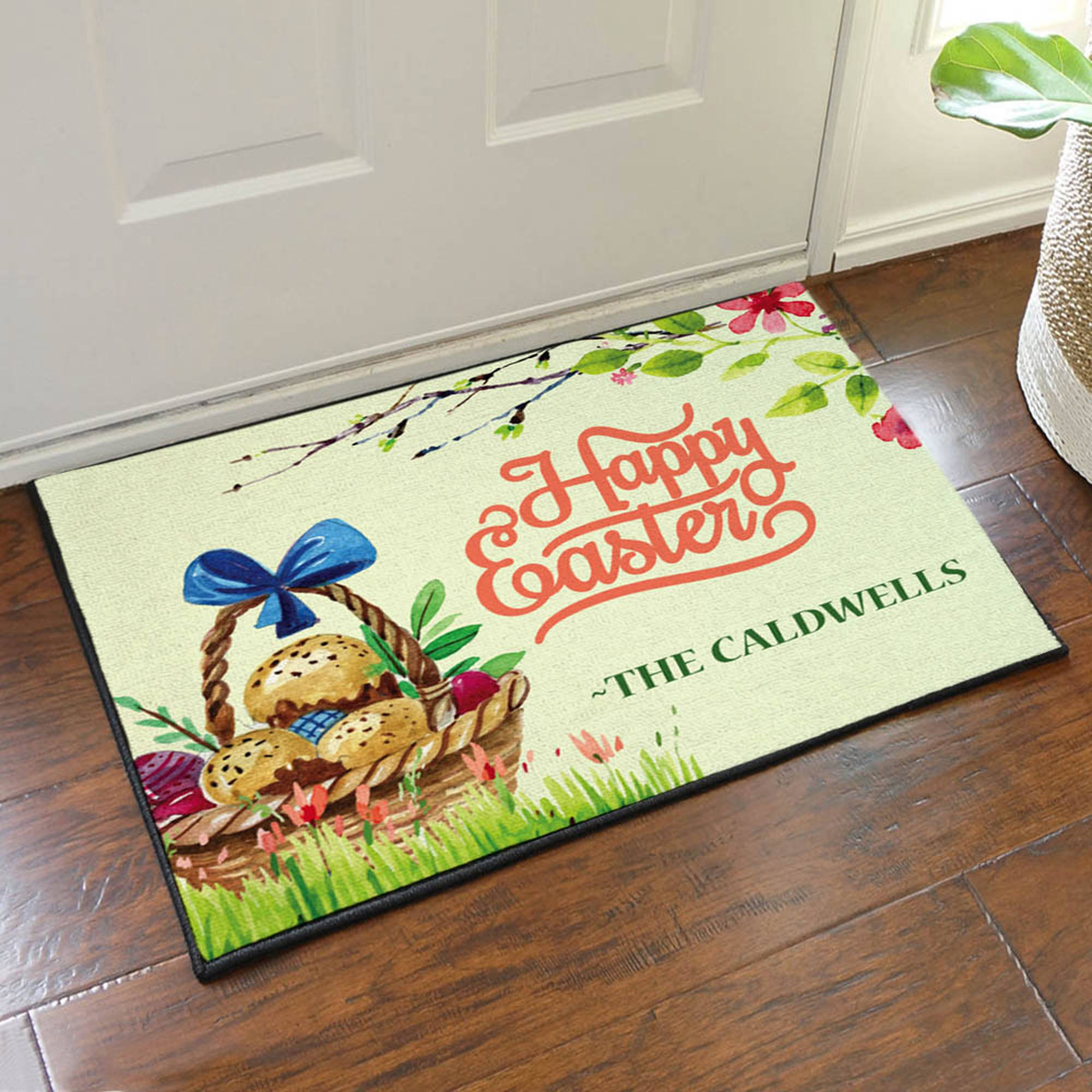 "Happy Easter Personalized Doormat, 19.5"" x 15.5"""