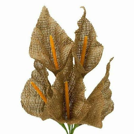 Efavormart 25 Burlap Large Calla Lily Flowers for DIY Wedding Bouquets Centerpieces Arrangements Party Home Decorations Wholesale - Burlap Centerpieces