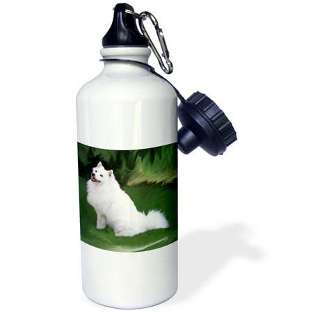 3dRose American Eskimo, Sports Water Bottle,