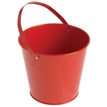 Metal Bucket, Red - Personalized Halloween Buckets
