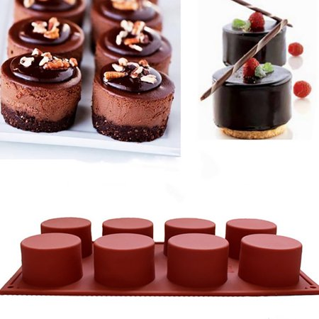 Outtop Cake Mold Soap Mold Round Flexible Silicone Cookie Mould Candy Chocolate