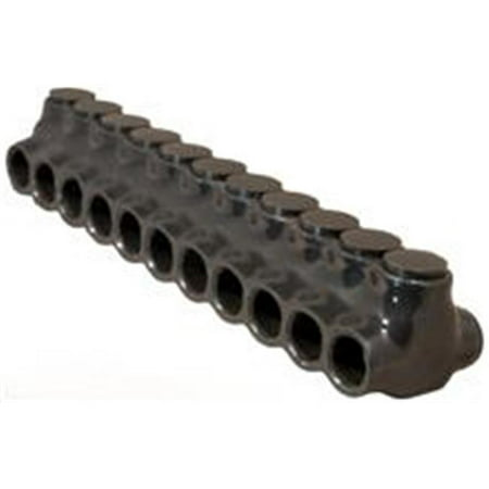 Morris Products 97641 Black Insulated Multi-Cable Connector - Dual Entry 11Ports 2 - 0 - 14 - image 1 of 1
