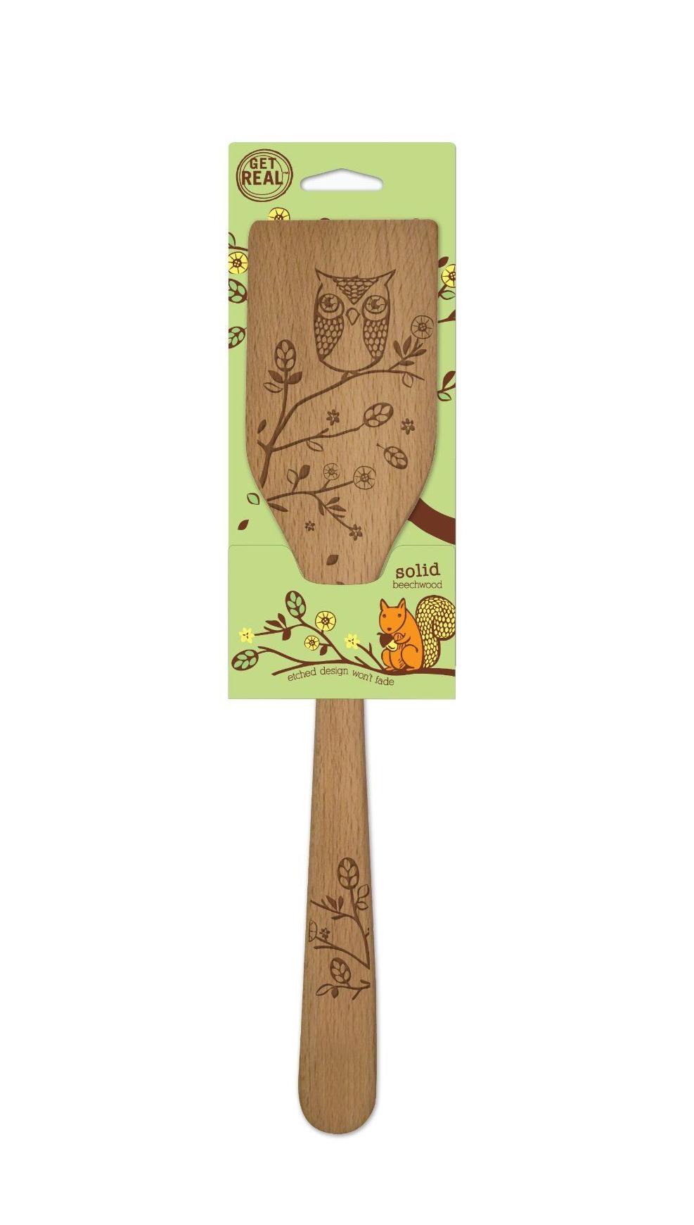 "Spatula Woodland Design Talisman Designs 12/"" Beechwood Turner"