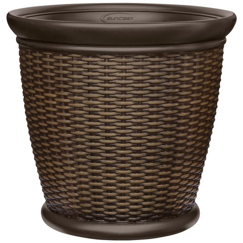 """Better Homes and Gardens 22"""" Wicker Planter by Suncast"""