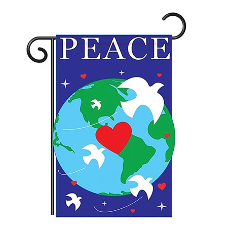Two Group - Peace Inspirational - Everyday Support Applique Decorative Vertical Garden Flag 13