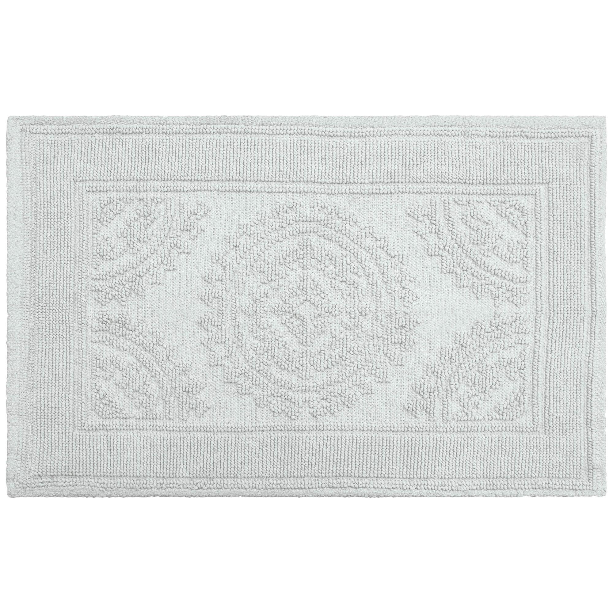 Jean Pierre Cotton StoNewash Medallion 17x24 in. Bath Rug, Marine Blue by YMF Carpets, Inc.