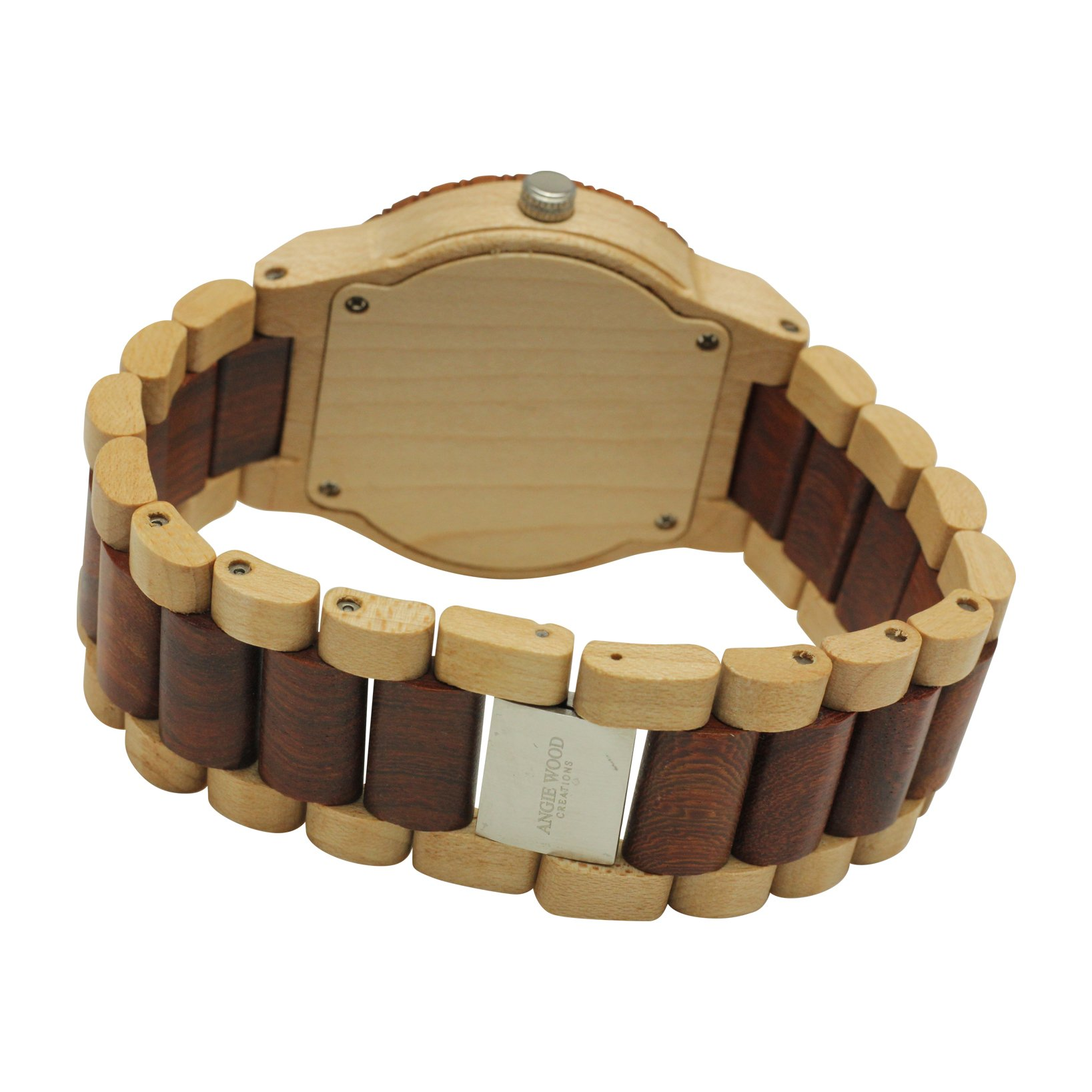Angie Wood Creations Maple Men's Watch With Maple and Red Sandalwood Bracelet - image 2 de 7