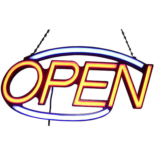 """Oval Soft LED """"OPEN"""" Sign"""