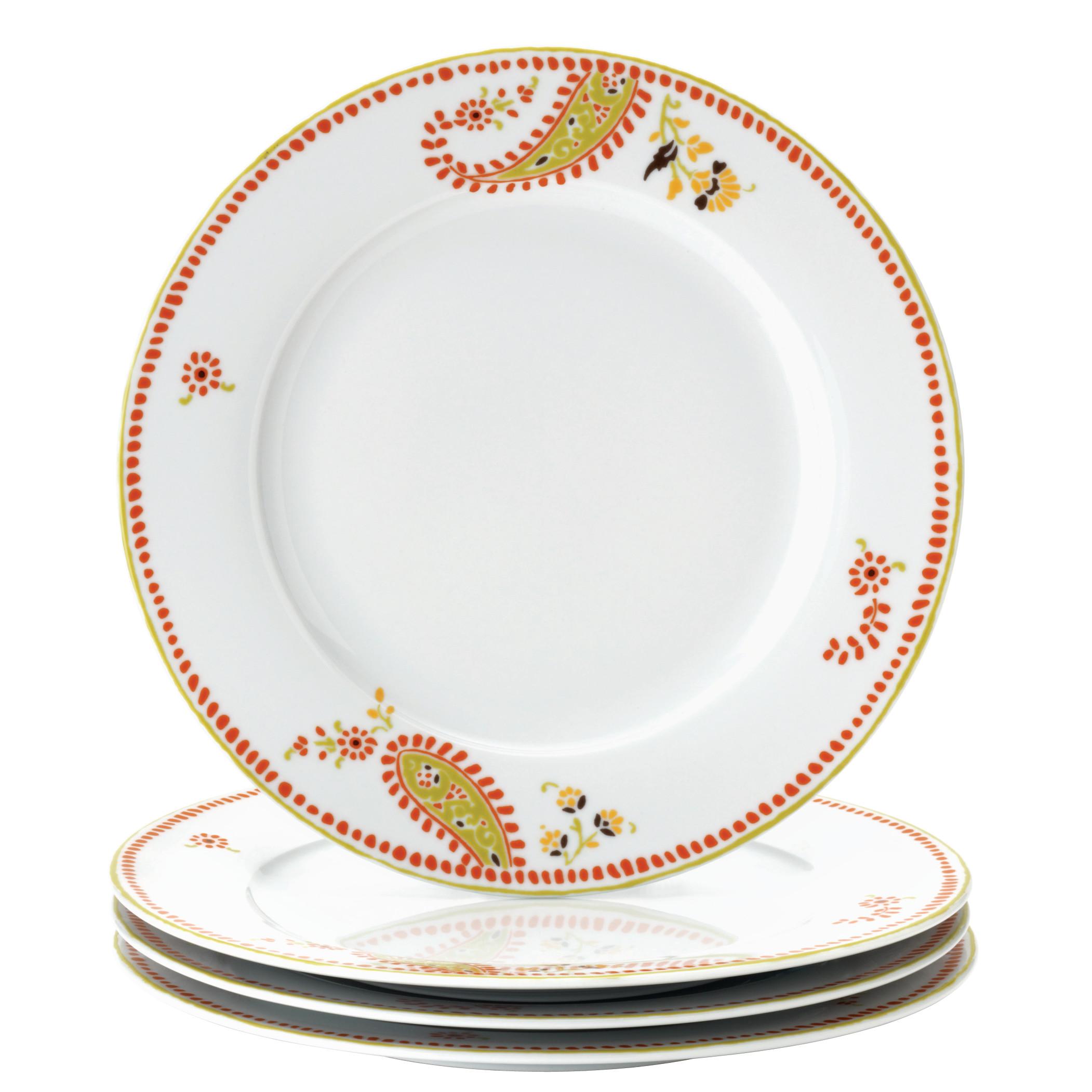 Rachael Ray Dinnerware Paisley 4-Piece Porcelain Dinner Plate Set - Walmart.com  sc 1 st  Walmart & Rachael Ray Dinnerware Paisley 4-Piece Porcelain Dinner Plate Set ...