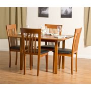 Flex Extendable Table Set with Hartford Dining Chairs in Cherry