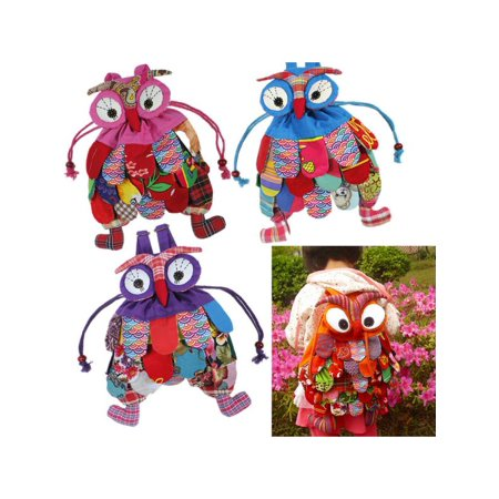 Kid Children Colorful Owl Bird Animal Cartoon SchoolBag Backpack Bag Child - Kids Colorful Animals