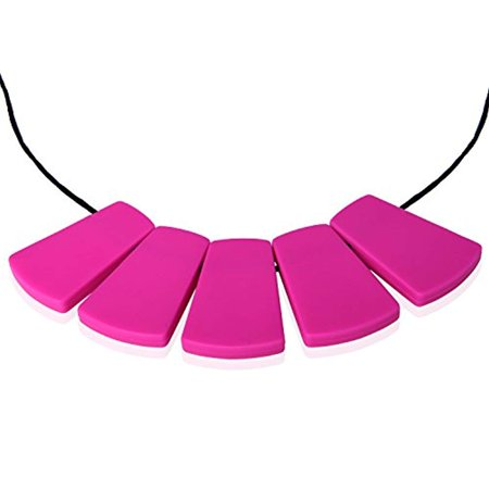 Lil' Jumbl Baby Teething Necklace   Organic Food Grade Silicone   BPA-Free (Violet) - Food Necklaces