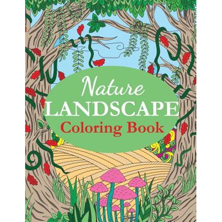 nature landscape coloring book an adult coloring book of nature scenes panoramas wildlife. Black Bedroom Furniture Sets. Home Design Ideas