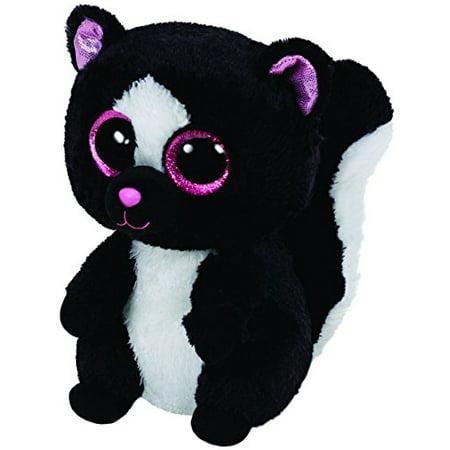 Ty Beanie Boos Flora Black/White Skunk Plush