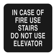 "Fire Stairways Sign, Sign Comply, 42307-1 BLACK, 5-1/2""Hx5-1/2""W"