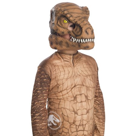 Jurassic World: Fallen Kingdom Tyrannosaurus Rex Movable Jaw Child Mask Halloween Costume Accessory](Mask Children)
