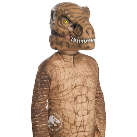Jurassic World: Fallen Kingdom Tyrannosaurus Rex Movable Jaw Child Mask Halloween Costume Accessory](Rex Costume)