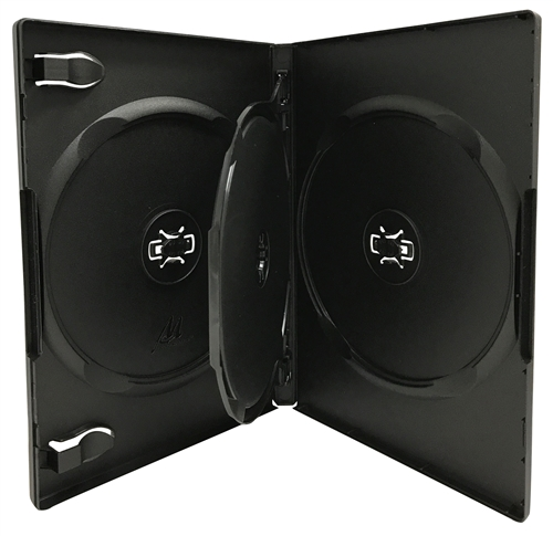 CheckOutStore 400 STANDARD Black Triple 3 Disc DVD Cases ...
