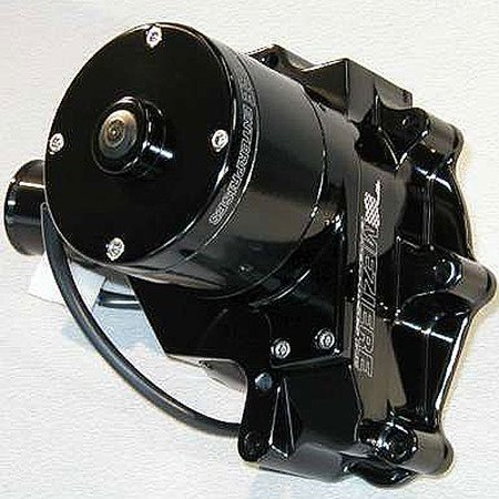 Meziere Wp311S Black Billet Hi-Flow Electric Water Pump For Small Block - Billet Electric Water Pump