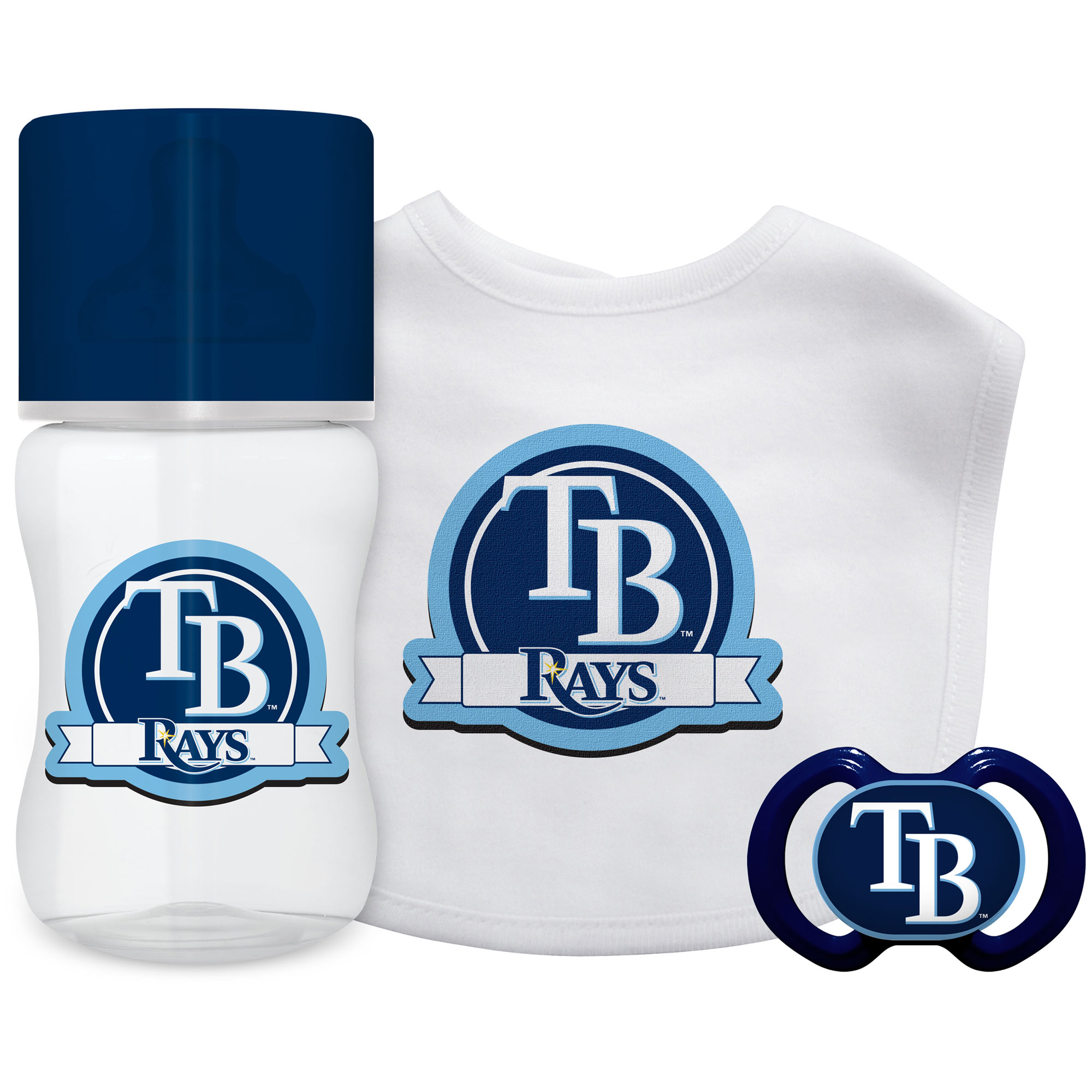 MLB Tampa Bay Rays 3-Piece Baby Gift Set
