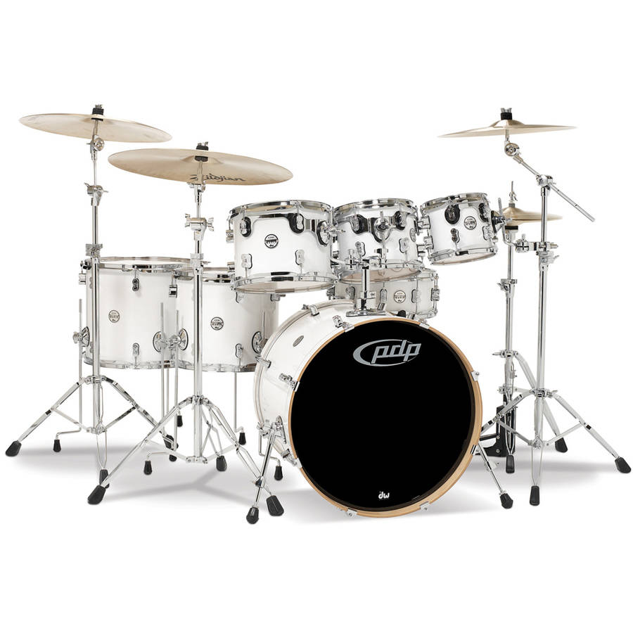 Pacific PDP Concept Maple 7-Piece Shell Pack w/ Chrome Hardware - Pearlescent White