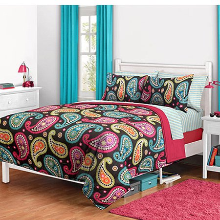 Bright Paisley Reversible Bed In A Bag Walmart Com