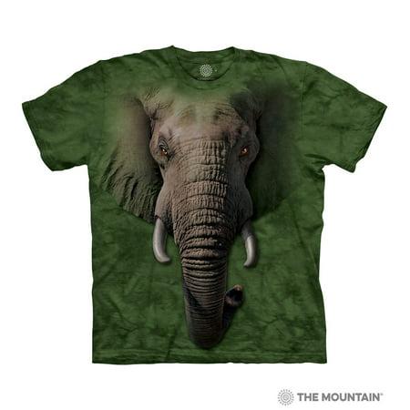74b9c85752c4 The Mountain ELEPHANT FACE Adult Unisex T-Shirt - Walmart.com