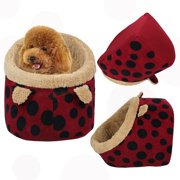 CoastaCloud Foldable Soft Pet House with Removable Bed Cushion Mat for Puppies Kittens Dogs Cats
